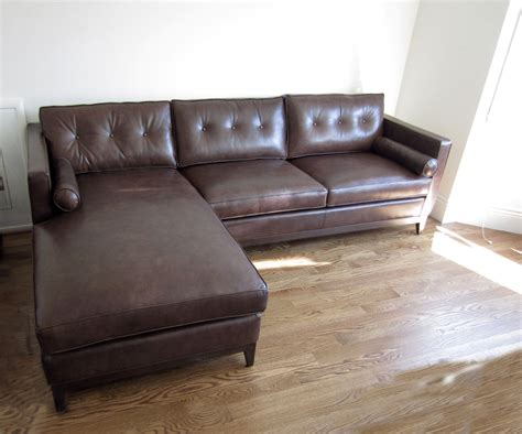 Leather Chaise Sofa Sofa Chaise Leather Best 25 Leather Sectionals Ideas On Sectional Thesofa