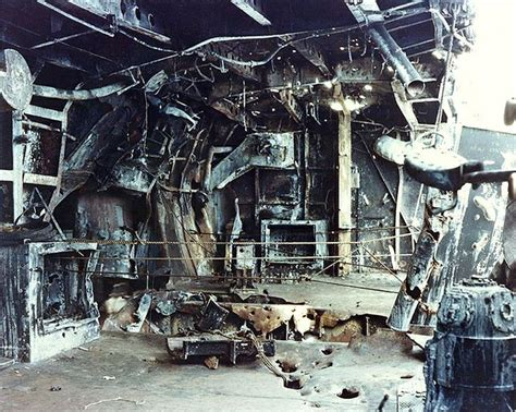 boat crash captains quarters view of the damage to the starboard quarter 5 quot 38 gun