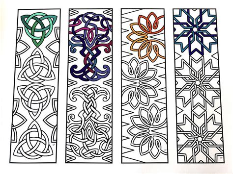 printable irish bookmarks celtic knot bookmarks pdf zentangle coloring page