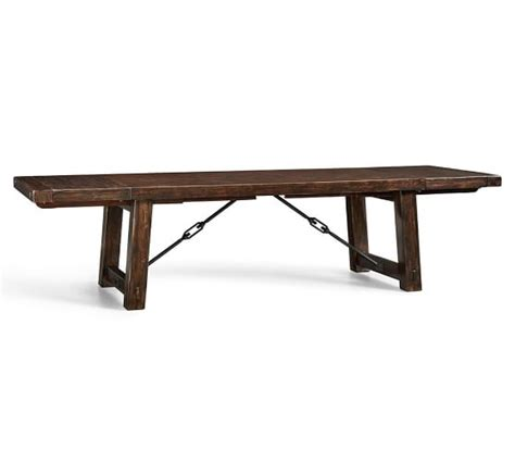 pottery barn rustic table benchwright extending dining table pottery barn