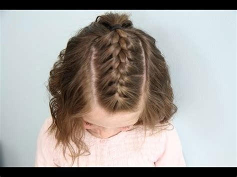 Cute Girl Hairstyles Youtube French Braid | single french braid back short hair cute girls
