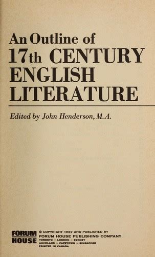themes of 17th century english poetry an outline of 17th century english literature edition