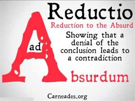 reductio ad absurdum ninety second philosophy youtube