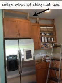 Space Above Kitchen Cabinets Filling In That Space Above The Kitchen Cabinets