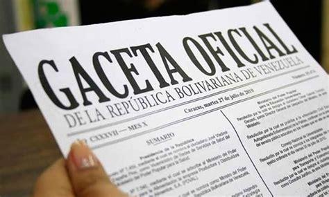 gaceta oficial 40864 exoneracin en el pago de islr de publicada en gaceta oficial providencia administrativa del