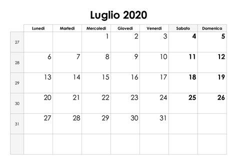 calendario luglio  calendariosu