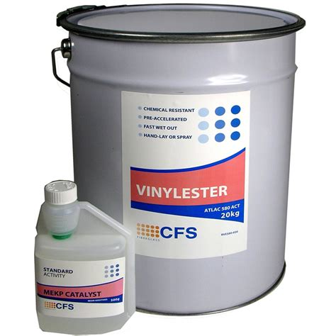 Epoxy Vinyl Ester Polyester - 20kg vinylester resin atlac 580