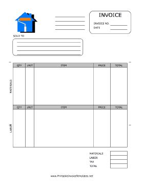 House Painting Invoice Template House Painting Invoice Template
