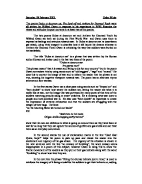 Wilfred Owen Essay by College Essays College Application Essays Wilfred Owen Essay