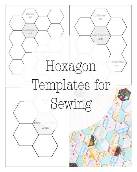 2 inch hexagon template hexagon templates for sewing a hexie quilt 2 inch 2 1 2