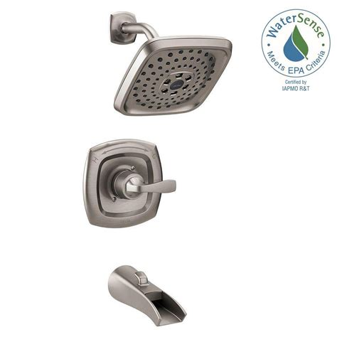 Delta 3 Handle Shower Faucet by Delta Tolva H2okinetic Single Handle 3 Spray Tub And