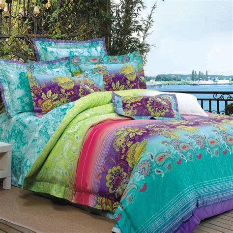 turquoise lime green purple and red bohemian style luxury