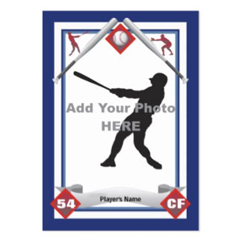 create your own baseball card template free how to make a baseball card template ehow