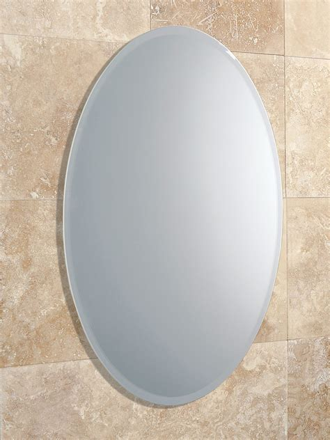 shaped bathroom mirrors hib alfera oval shaped mirror with bevelled edge 61643000