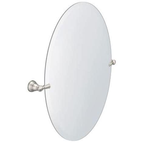 moen bathroom mirrors moen banbury 26 in x 23 in w pivoting wall mirror in