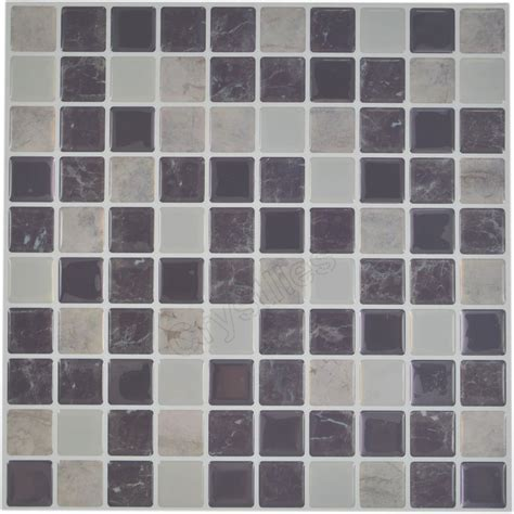 Crystiles® Adhesive Vinyl Wall Tiles, Item# 91010411, 10