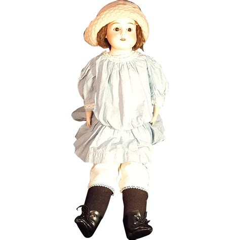 bisque doll leather schoenau hoffmeister german bisque kid leather doll 22