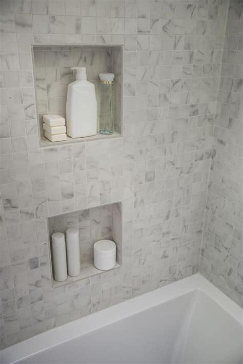 inset shower shelves hgtv
