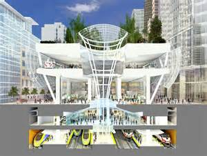 Cross section view of the new transbay transit center the five level