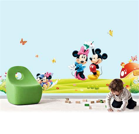 hot mickey mouse minnie vinyl mural wall sticker decals hot mickey mouse and minnie mouse wall sticker children