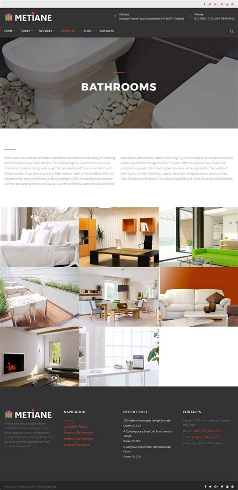 wordpress themes interior design metiane interior design wordpress theme wordpress