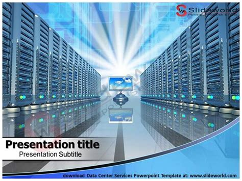 Download Data Center Services Powerpoint Template Slide World Authorstream Data Powerpoint Template