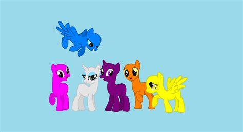 five ponies mlp base my little pony base by avatarwarriorcat on deviantart