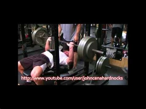 john cena bench press max john cena eccentric hook bench press youtube