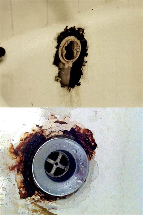 patch hole in bathtub bathtub drain overflow rust hole repair