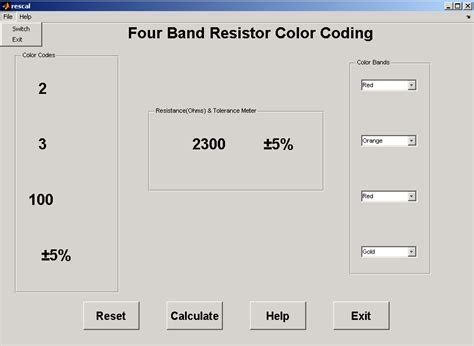 resistor color code calculator software free resistor color code calculator matlab 28 images 5 band resistor calculator software free 28