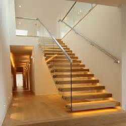 Stainless Steel Banister Handrail Cantilever Staircase For London Penthouse Apartment