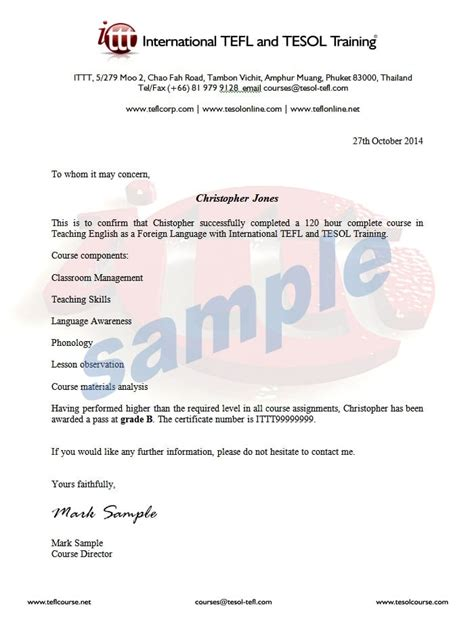 tefl cover letter exle completion form template gallery template