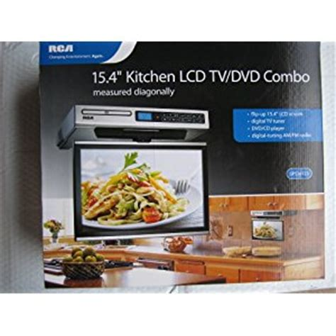 under cabinet kitchen tv best buy rca kitchen lcd tv dvd combo 15 4 quot under cabinet websale