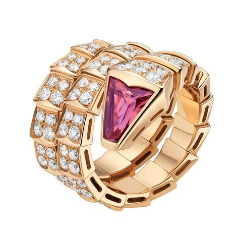 Bvlgari Seepenti bvlgari serpenti ring replica pink gold spiral tourmaline an856156 jy2wldu 179