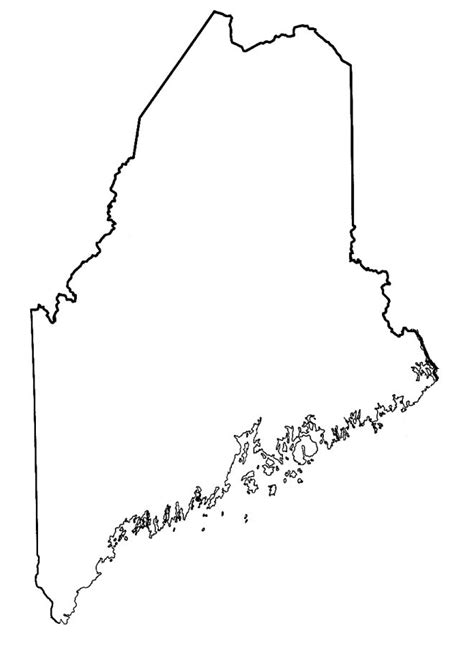 Maine State Outline T Shirt Maine Will Template