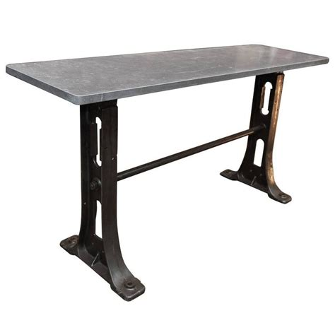 cast iron sofa table 1900s cast iron industrial console table bluestone top for