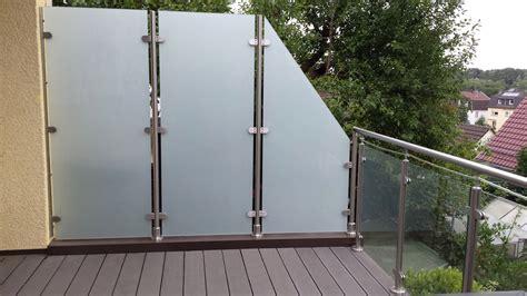 glas sichtschutz fuer balkon garten terrasse meitinger