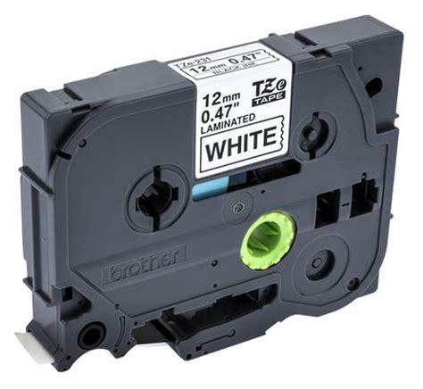 tze 231 | brother tze 231 black on white label printer