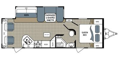 kodiak rv floor plans 2013 kodiak by dutchmen m 263rlsl specs and standard equipment nadaguides