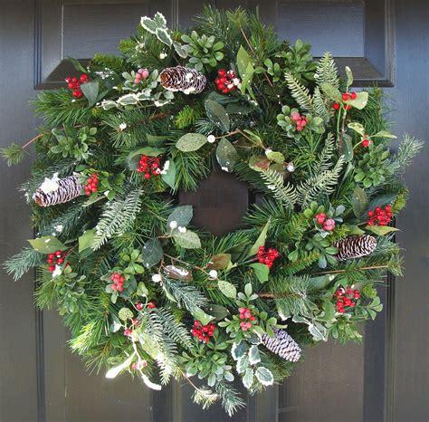 Christmas Wreath Front Door Wreath Holiday Wreath By Front Door Wreaths Etsy