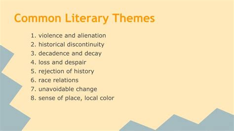 themes of enlightenment literature ppt modernism powerpoint presentation id 2165162