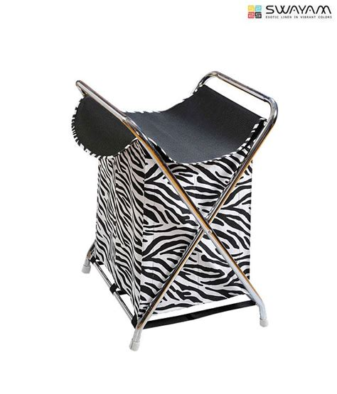 Swayam Black White Zebra Print Laundry Bag Buy Swayam Zebra Print Laundry