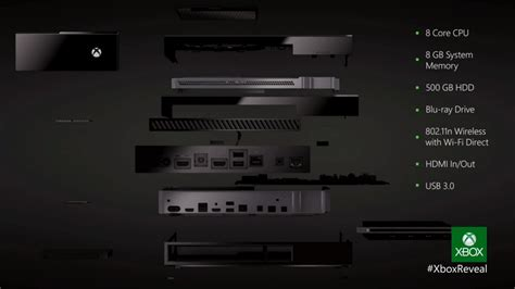 x spec xbox one hardware and software specs detailed and
