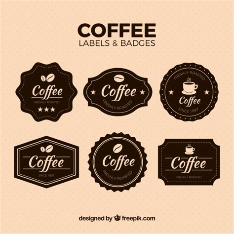 3d Sticker Vintage by Pack Of Vintage Coffee Stickers Vector Free