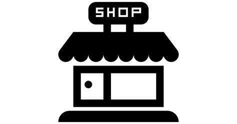 werkstatt piktogramm shop store frontal building free commerce icons
