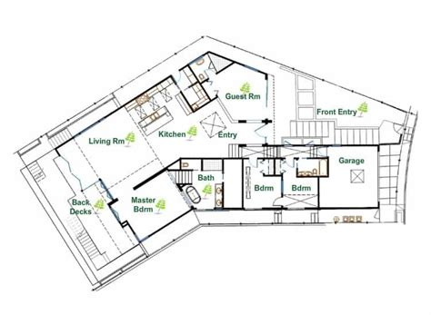 eco friendly house floor plans ultra sustainable and eco friendly modern house in los angeles