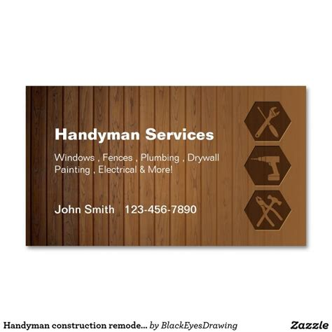 Construction Business Cards Ideas