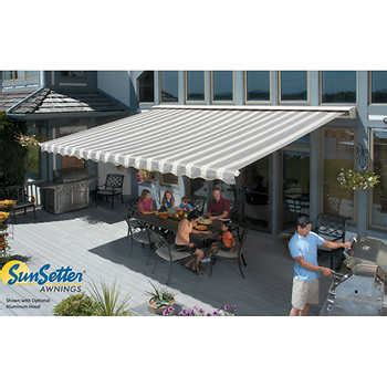 sunsetter awning cover sunsetter motorized retractable awnings