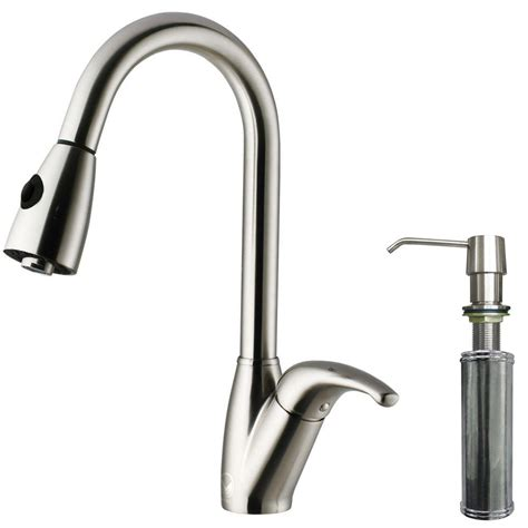vigo vg02002st stainless steel pull out spray kitchen vigo single handle pull out sprayer kitchen faucet with