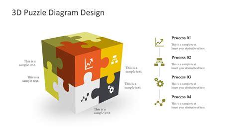 design za powerpoint 3d puzzle diagram powerpoint templates